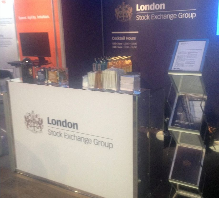 Exhibition Drinks Service - Coffee Stand For London Stock Exchange