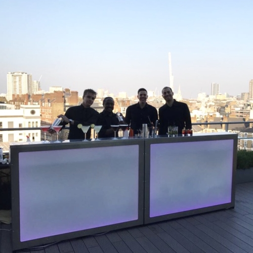 Crimson Bars team on London rooftop