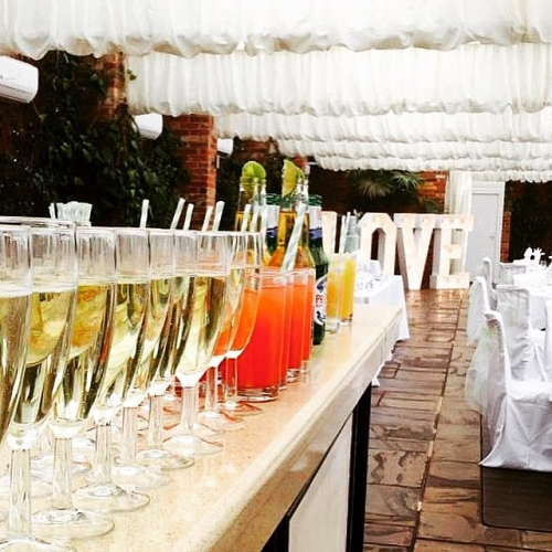 Wedding welcome drinks